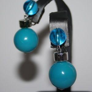 Vintage Blue dangle earnings